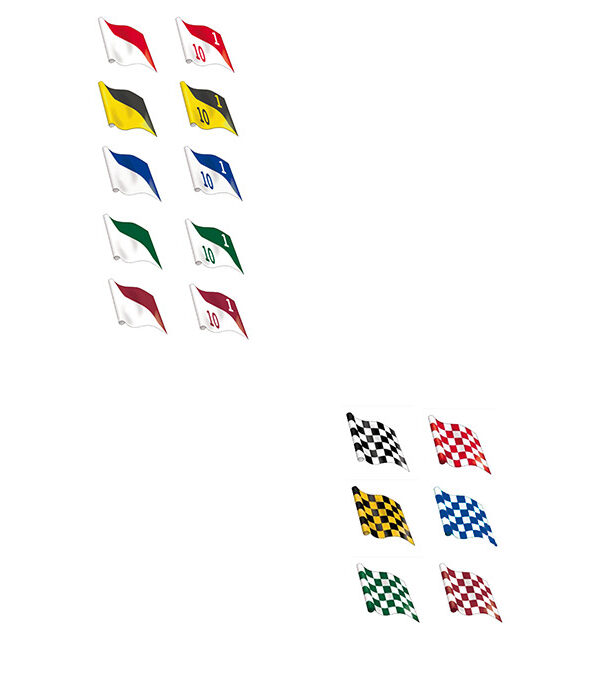 diagonal-and-chequered-flags