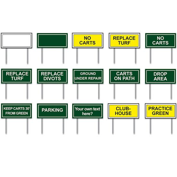 Fairway signs